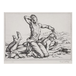 """1939 American Classical Photogravure, """"Two Boys on a Beach"""" by Paul Cadmus For Sale"""