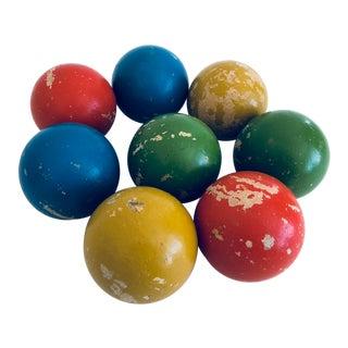 Vintage Italian Bocce Balls - Set of 8