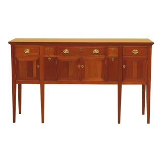 1980s Federal Craftique Mahogany Sideboard With Wine Drawers For Sale