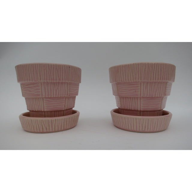 McCoy Pink Pottery Planters - A Pair - Image 2 of 3
