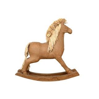 Papier-Mâché Rocking Horse For Sale