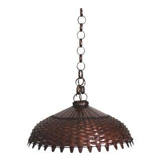 Large Bohemian Basket Hanging Light For Sale