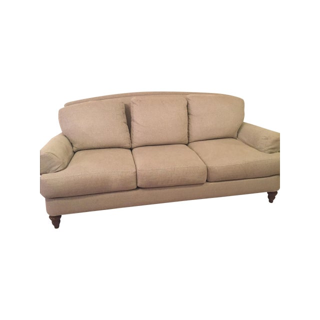 Ethan Allen Cream Sofa - Image 3 of 5