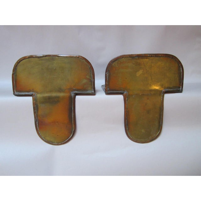 Copper Arts & Crafts Copper Bookends - A Pair For Sale - Image 8 of 9