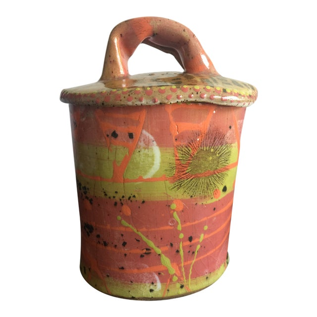 1970s Abstract Colorful Glazed Pottery For Sale