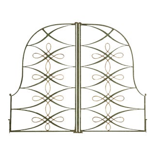 Vintage French Iron & Steel Gates - A Pair For Sale