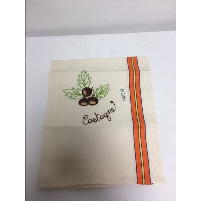 Vintage Italian Linen Kitchen Towels - Set of 3 - Image 5 of 5