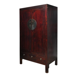 Antique Chinese Cabinet With Clean Lines
