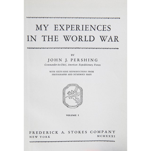 """Booth & Williams 1931 """"My Experiences in the World War Vols. I & Ii"""" Collectible Book For Sale - Image 4 of 6"""
