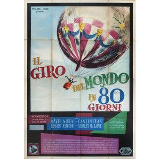 Around the World in Eighty Days 1959 Italian Quattro Fogli Film Poster For Sale