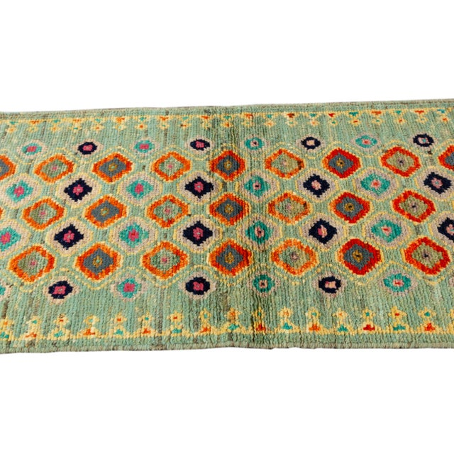"Afghan Modern Gabbeh Rug, 1'11"" X 5'4"" For Sale - Image 3 of 8"