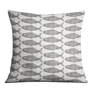 School O Fish Gray Pillow Cover For Sale