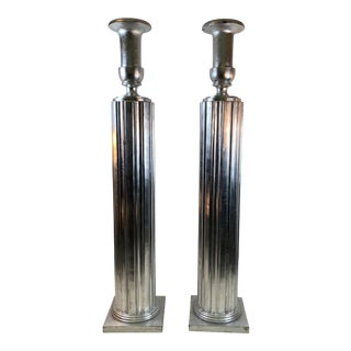 Art Deco Revival Wood Torches - a Pair For Sale