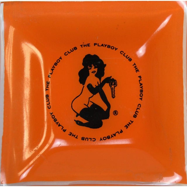 The Playboy Club Orange Ashtray in Excellent Condition. Area: 4""