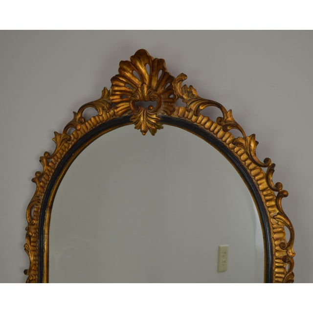 Dauphine Harrison & Gil Gold Gilt Wood Rococo Carved Wall Mirror For Sale - Image 10 of 13