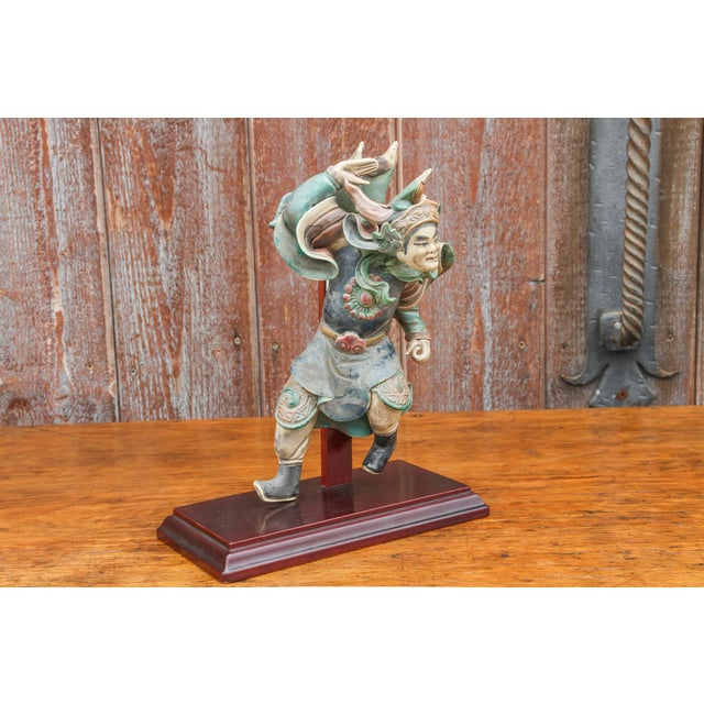 1940s Vintage Chinese Trader Ceramic Figurine For Sale - Image 5 of 8