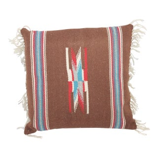 Square Navajo Style Weaving Pillow For Sale
