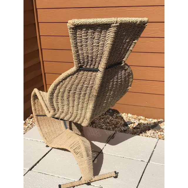 Sculptural Woven Rope Chaise Longue For Sale In Atlanta - Image 6 of 7