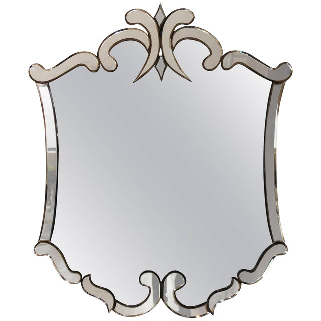 1940s Venetian Style Mirror For Sale