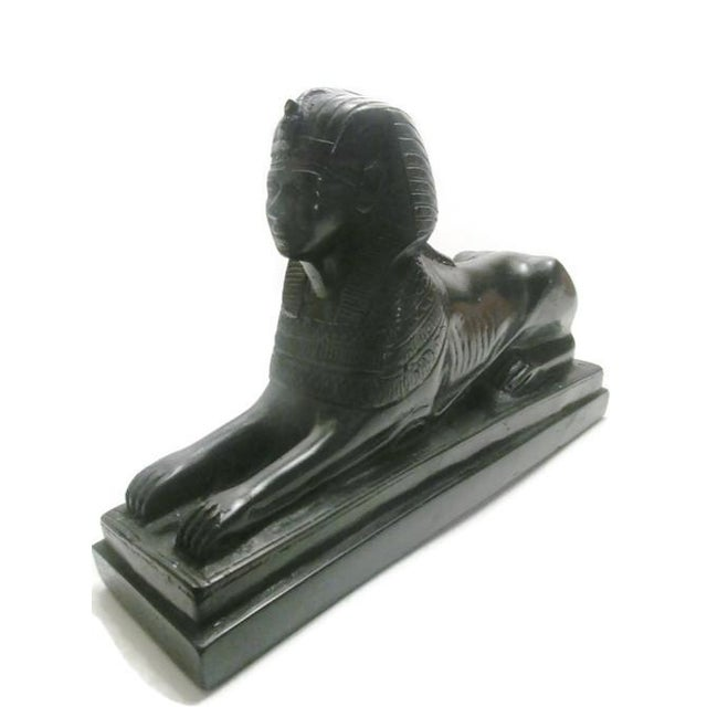 Vintage Black Marble Sphinx For Sale - Image 5 of 6