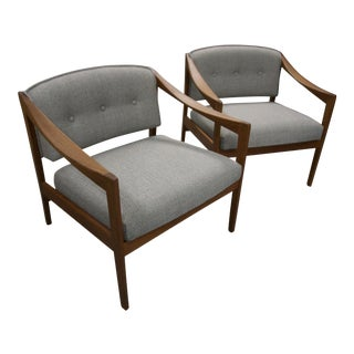 1960s Vintage Folke Ohlsson for Dux Lounge Chairs- a Pair For Sale