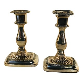 Silver Candle Sticks - a Pair For Sale