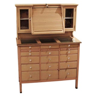 20th Century Traditional Opthalmic & Genothalmic Medical Cabinet For Sale