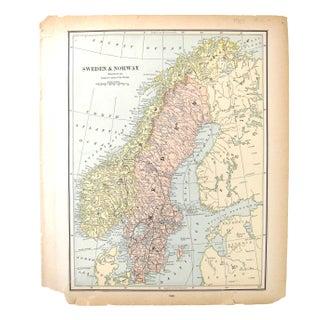 1880's Map of Holland, Belgium,Denmark, Sweden, & Norway Preview