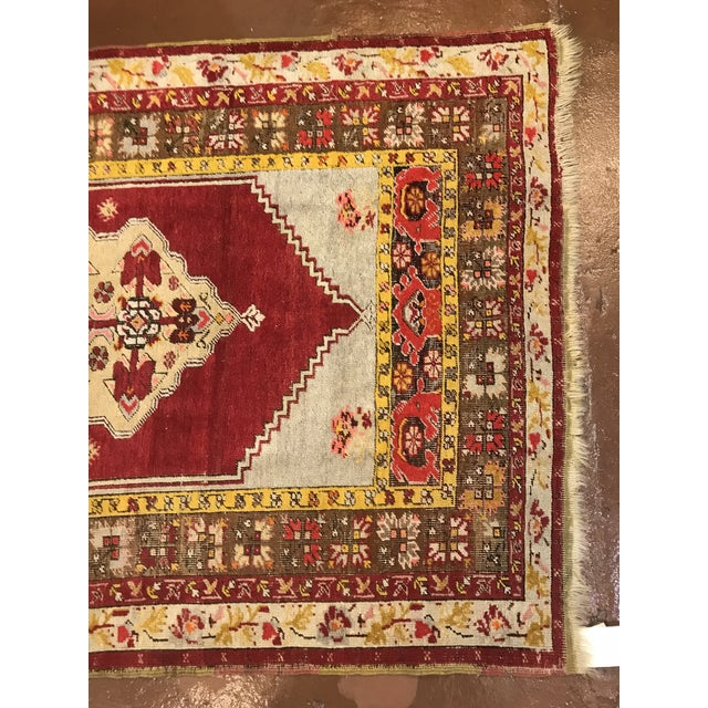 Antique Wool Turkish Rug For Sale - Image 4 of 5