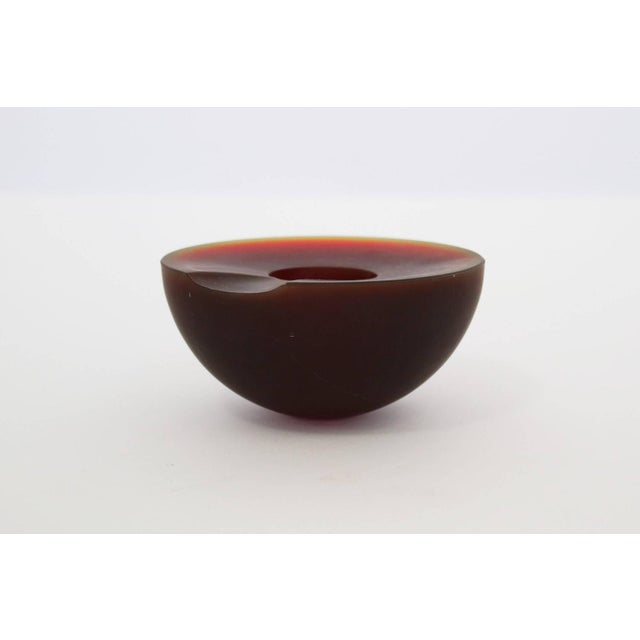 Siza, bowl Ashtays Colored, Clear, and Frosted Blown Glass