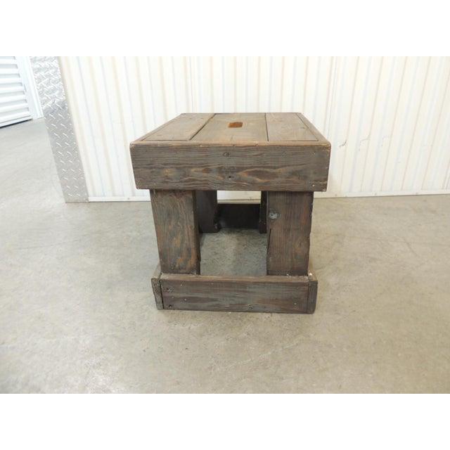 Boho Chic Rustic Primitive Style Artisanal Rectangular Step Stool For Sale - Image 3 of 7