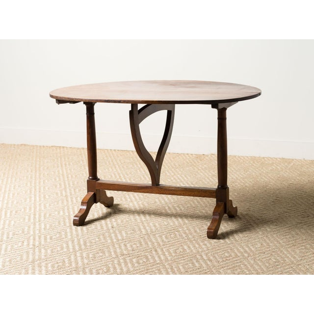 Antique 1900s French Mahogany Wine Table For Sale - Image 6 of 6