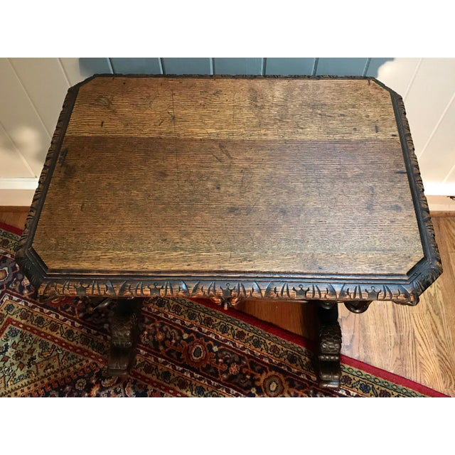 Late 19th Century 19th Century French Renaissance Dolphin Table Desk For Sale - Image 5 of 11