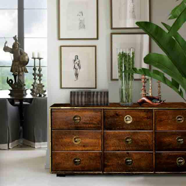 We love this solid statement piece. Master craftsmen construction with 9 beautifully dovetailed drawers that glide...