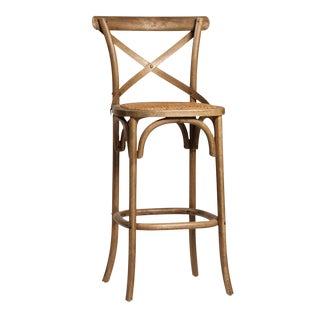 Rattan Seat Bar Stool For Sale