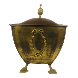 Early 20th Century Antique Brass Container For Sale