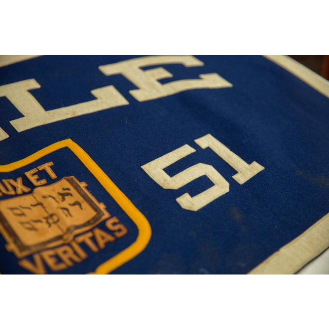 Old New House Vintage Yale 1951 Felt Banner For Sale - Image 4 of 7