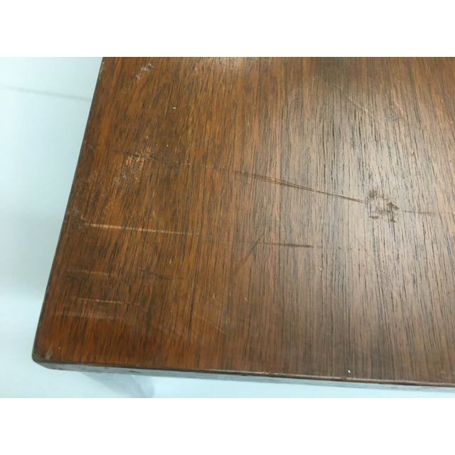 Brown Vintage Mid-Century Modern Walnut Side or Coffee Table by Florence Knoll For Sale - Image 8 of 10
