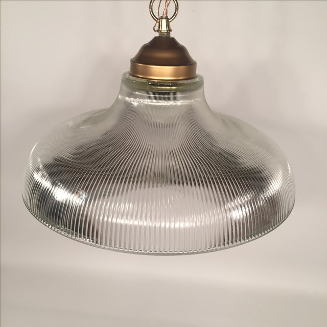 Vintage Bronze & Glass Pendant - Image 3 of 7