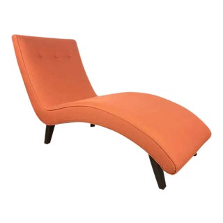 Mid-Century Modern Style Red Upholstered Chaise