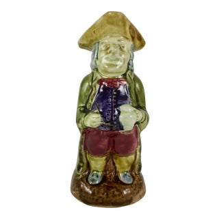 19th C. English Majolica Gentleman Figural Toby Jug