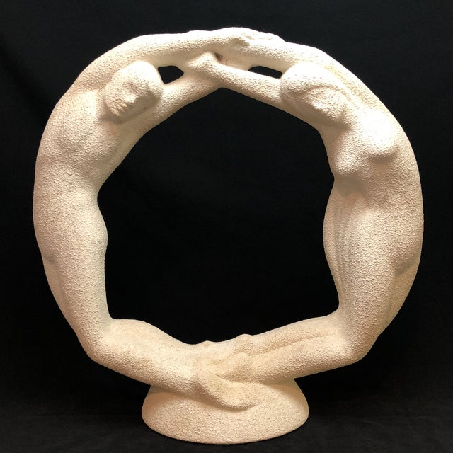 "Vintage Textured Haeger Eternity ""Circle of Love"" Statue For Sale - Image 10 of 10"