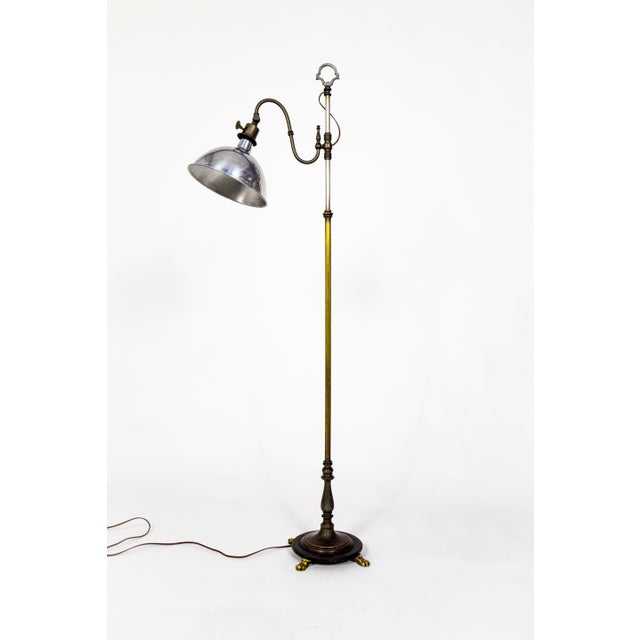 1930's Adjustable Paw Foot Floor Lamp For Sale - Image 11 of 11