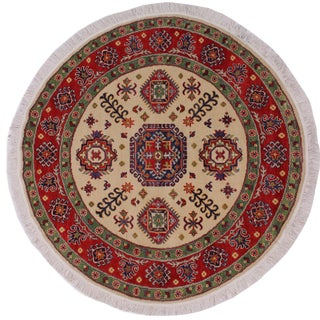 Smyth Red Wool Round - 4'9 X 4'11 For Sale