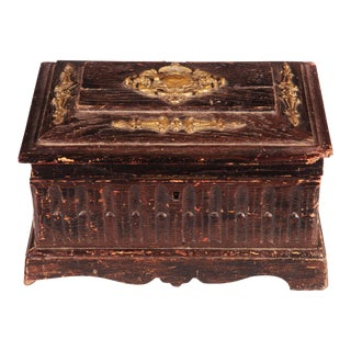 Antique oak box For Sale