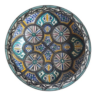 Moroccan Handcrafted Ceramic Bowl For Sale