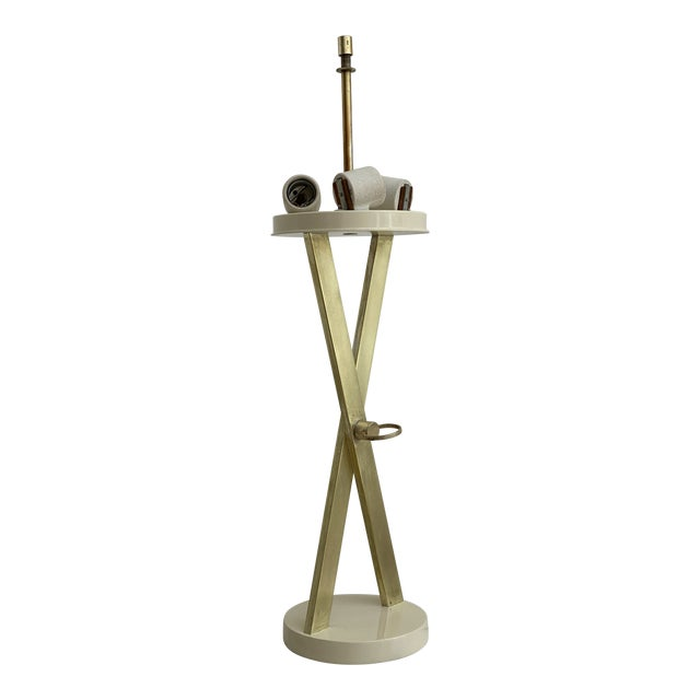 1960's X-Base Table Lamp by Laurel For Sale