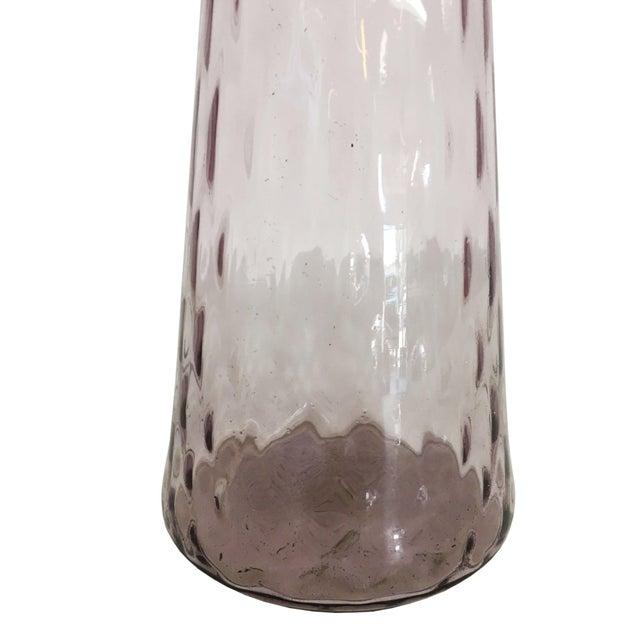 Mid Century Smoked Purple Hand Blown Glass Vase Chairish