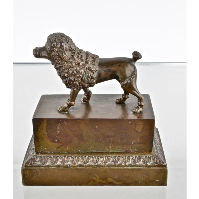 Figurative Bronze Poodle Inkwell, France 19th Century For Sale - Image 3 of 12