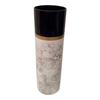 Arfai Ceramic Gold Crazed Marbled Vase